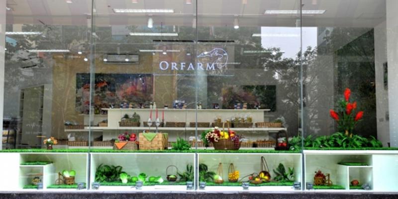 Cửa hàng rau sạch thuộc hệ thống siêu thị Orfarm