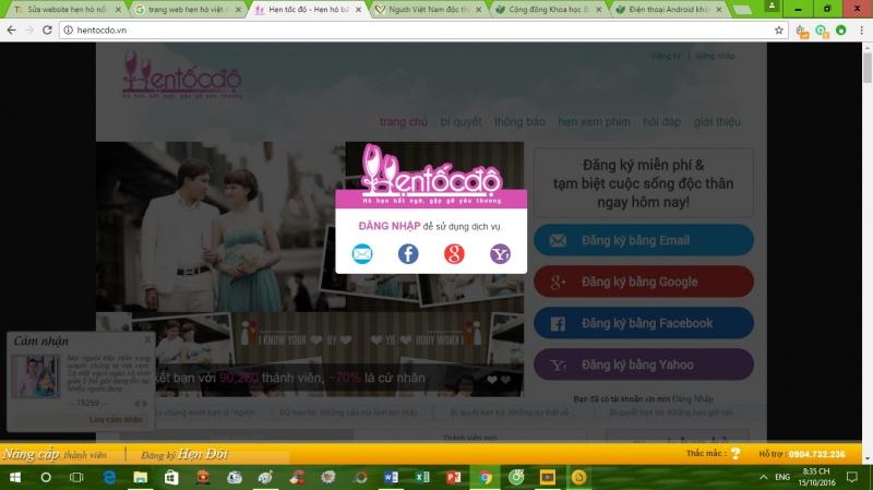 Website Hẹn tốc độ