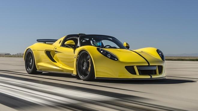 Nếu nói về tốc độ thì đầu bảng chỉ có thể là Hennessey Venom GT Spyder