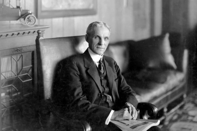 Henry Ford, người sáng lập tập đoàn Ford, được xem như