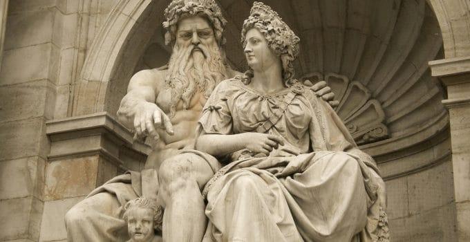 Thần Zeus và thần Hera