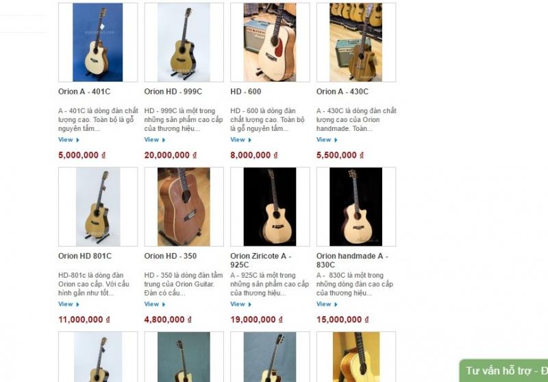 Sản phẩm và giá cả của shop