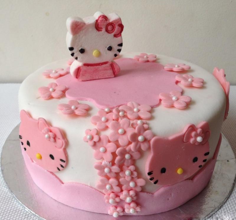 Hình ảnh bánh sinh nhật dành tặng cho bé gái