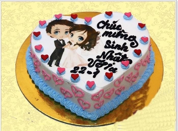 Hình ảnh bánh sinh nhật dành tặng cho vợ yêu