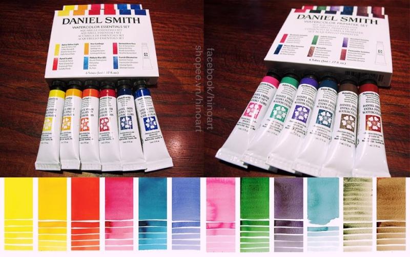 Màu nước Daniel Smith được giới thiệu tại Hino Art
