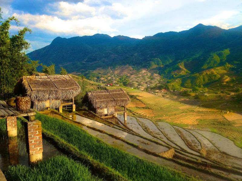 H'Mong Mountain Retreat nằm giữa những thửa ruộng bậc thang