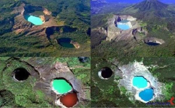 Hồ 3 màu liên tục đổi màu