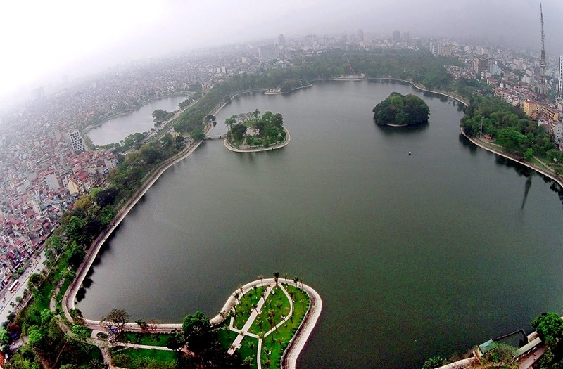 Hồ Bảy Mẫu - quận Hai Bà Trưng