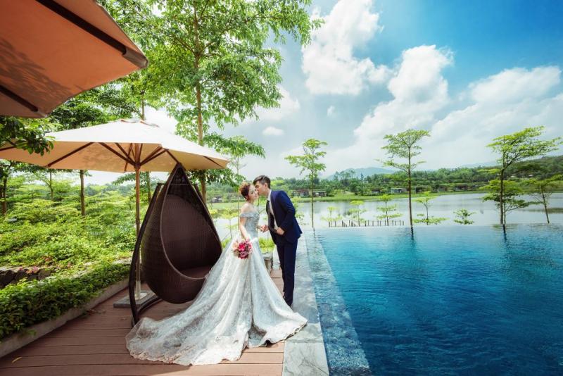 Hồ Đại Lải - Vĩnh Phúc, nơi chụp ảnh cưới đẹp ở miền Bắc