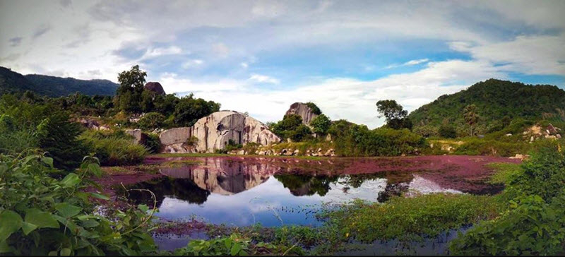 Hồ Latina với vẻ đẹp yên bình