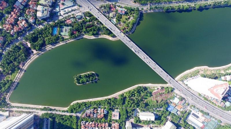 Hồ có đường vành đai 3 vắt ngang qua
