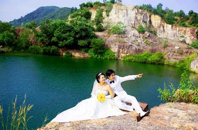 Ảnh cưới chụp tại Hồ Tà Pạ