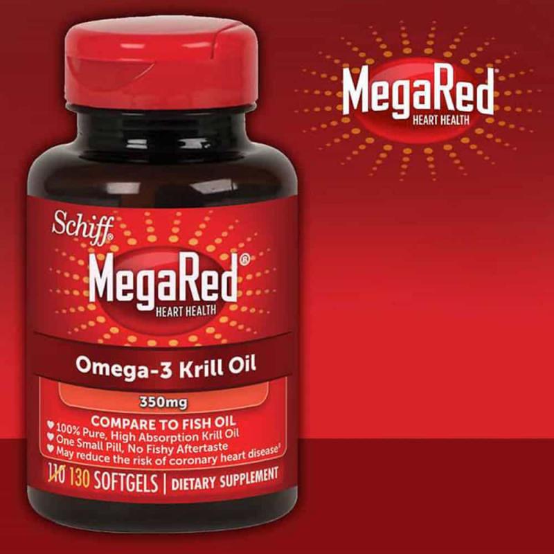 Hỗ trợ tim mạch từ dầu nhuyễn thể Schiff MegaRed Super Heart 70 viên