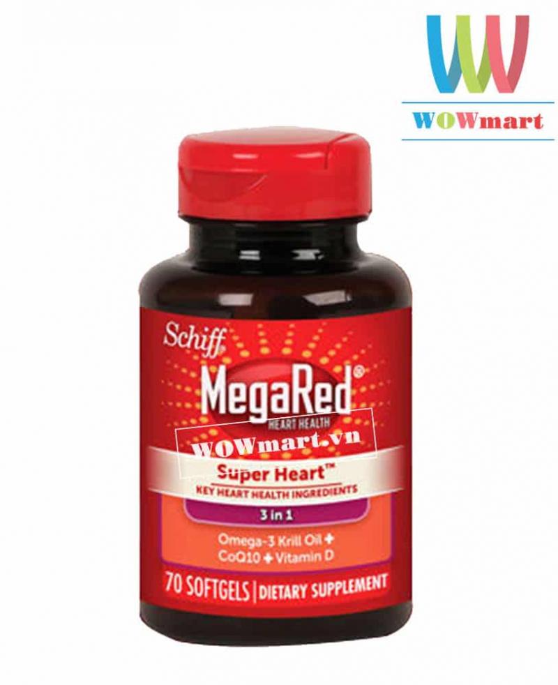 Hỗ trợ tim mạch từ dầu nhuyễn thể Schiff MegaRed Super Heart