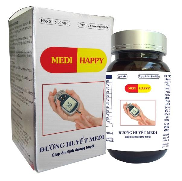Hỗ trợ trị bệnh tiểu đường - Đường huyết Medi Happy