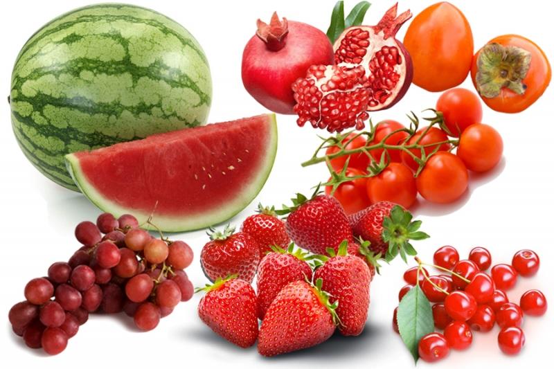 Hoa quả màu đỏ rất giàu vitamin