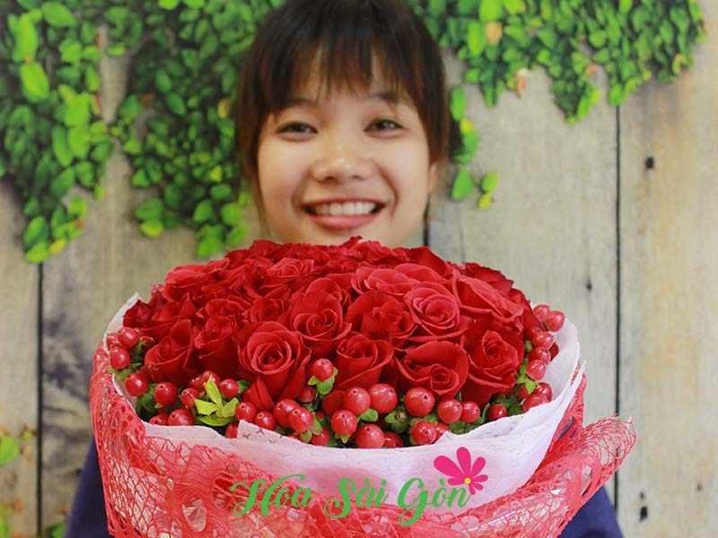 Bó hoa cưới ở Hoa Sài Gòn