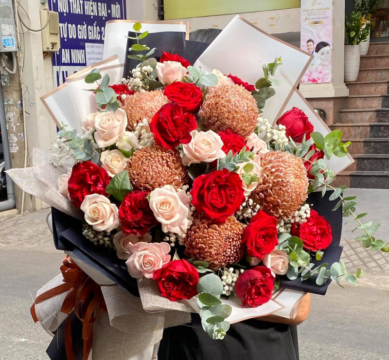 Mẫu hoa tươi Hoàng Nga