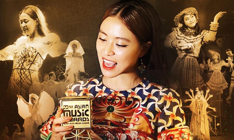 Hoàng Thùy Linh đoạt được cup tại lễ trao giải âm nhạc Hàn Quốc Mnet Asian Music Awards 2019 (MAMA 2019)