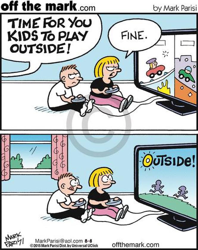 Bọn trẻ lại không muốn phải rời khỏi nhà vì chúng muốn xem TV, lướt internet và chơi trò chơi điện tử