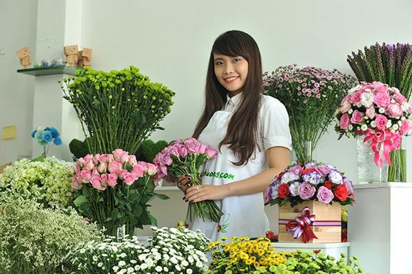 Các loại hoa được phối hợp một cách hài hòa