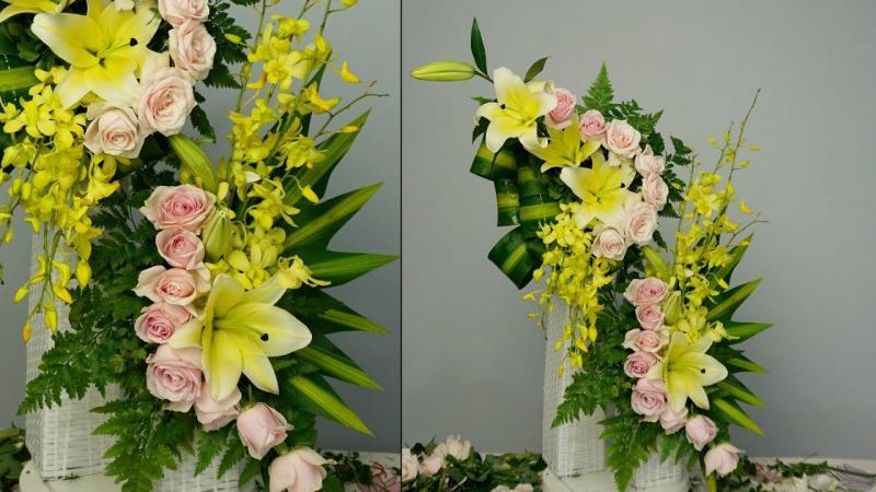 Muốn kinh doanh hoa thành công phải học cách cắm hoa đẹp và độc đáo
