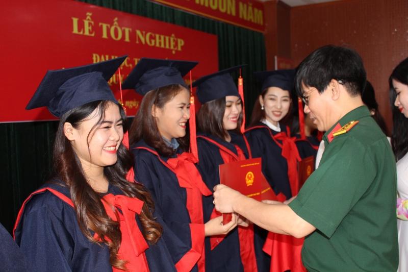 Hình ảnh một buổi lễ tốt nghiệp của nhà trường