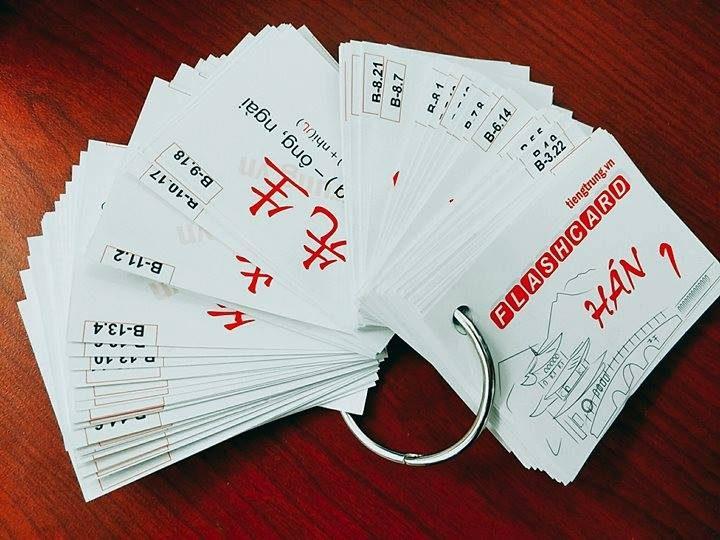Học tiếng Trung bằng flashcard