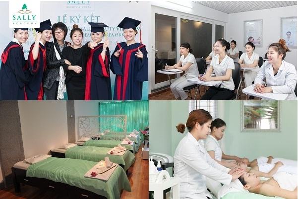 Học viện đào tạo nghề làm đẹp Sally Academy - địa chỉ đào tạo nghề phun xăm thẩm mỹ uy tín nhất Hà Nội