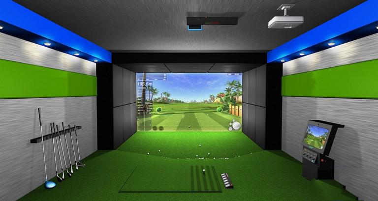 Phòng tập golf 3D hàng chục tỷ cho các golfer tập đánh