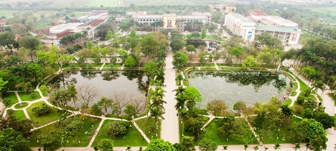 Học viện Nông nghiệp Việt Nam nhìn từ trên cao