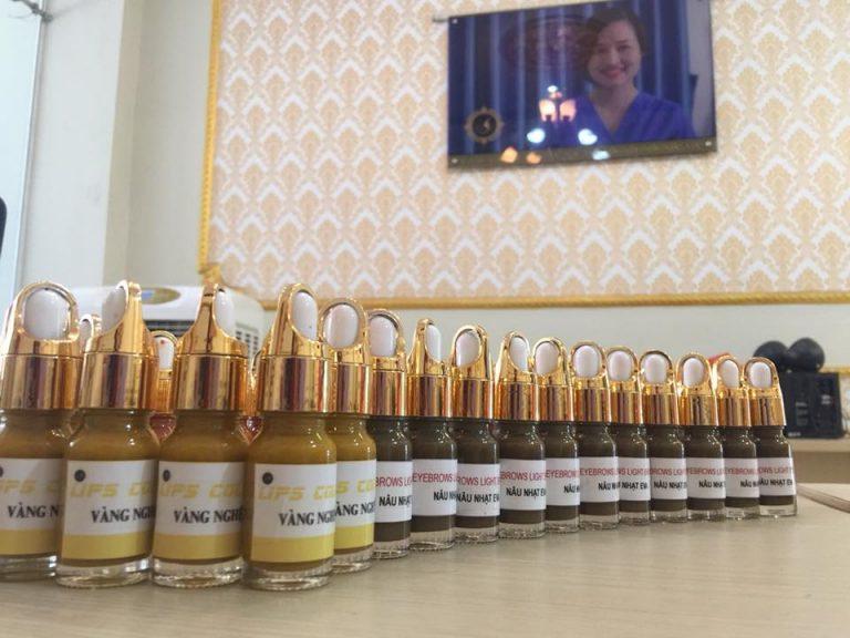 Mực phun xăm Hàn Quốc tại học viện thẩm mỹ & SPA EVA XINH