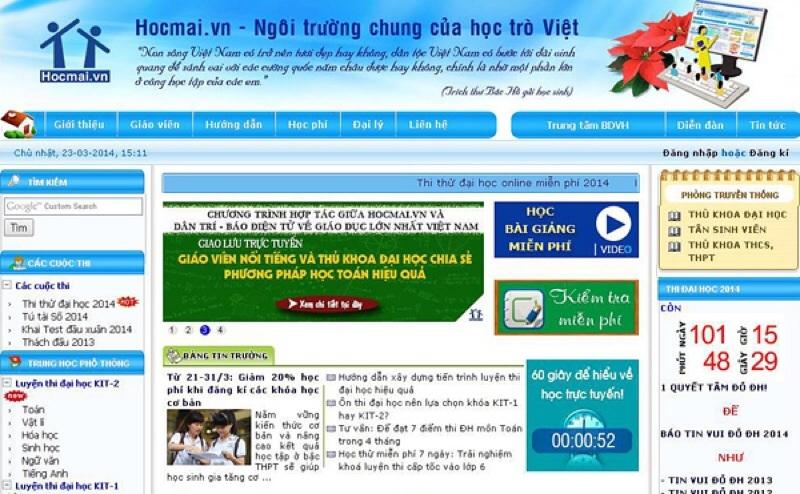 Website luyện thi đại học Hocmai.vn
