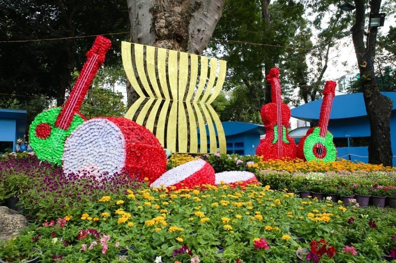 Hình ảnh khai mạc hội hoa xuân công viên Tao Đàn Năm 2016