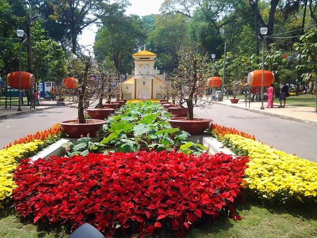 Hội hoa xuân công viên Tao Đàn năm 2016
