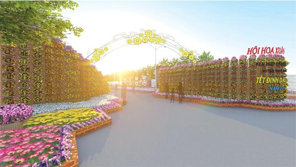 Mô hình cổng hội hoa xuân 2017
