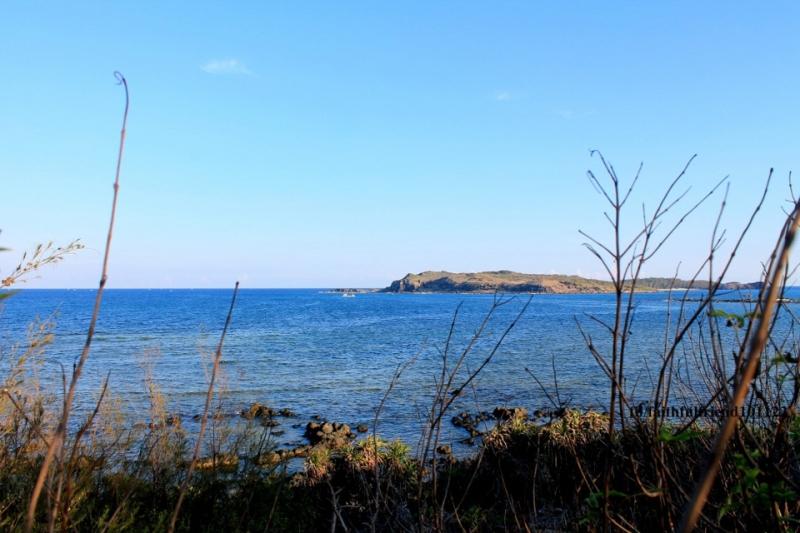 Hòn Tranh là một hòn đảo nhỏ nằm giữa bốn bề sóng vỗ