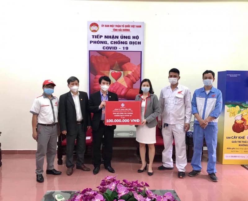 Honda Tiên Tiến ủng hộ phòng chống dịch COVID