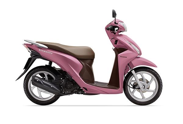 Honda Vision 2016 vừa bổ sung thêm màu hồng cá tính.