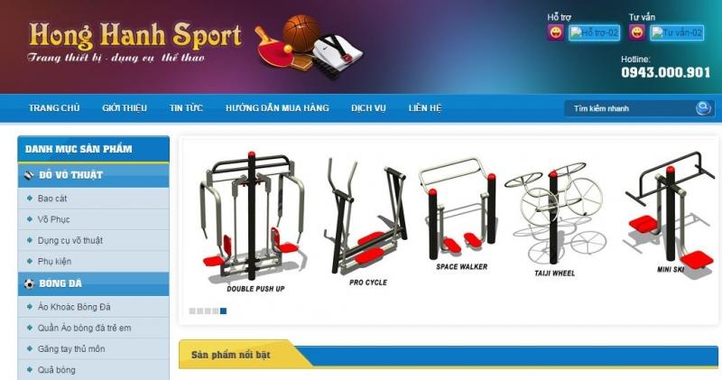 Trang web của Hồng Hạnh Sport