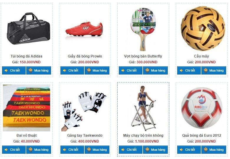 Một số dụng cụ thể thao tại Hồng Hạnh Sport