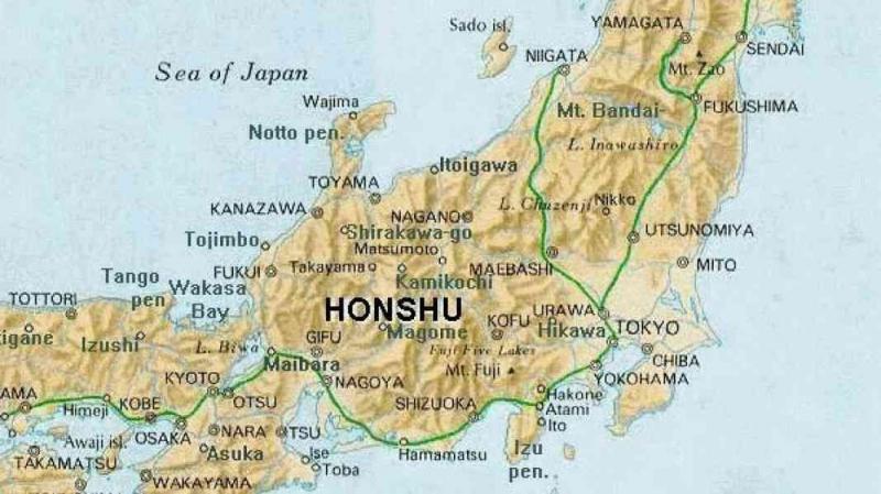 Đảo Honshu trù phú và rộng lớn bậc nhất nước Nhật.