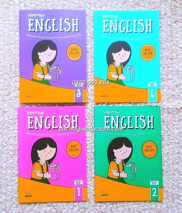 Bộ sách Hooray English gồm 8 cuốn, với các chủ đề thân cận và gần gũi với đời sống hàng ngày