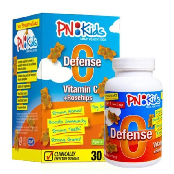 Hộp 30 viên kẹo dẻo bổ sung Vitamin C cho trẻ PNKids