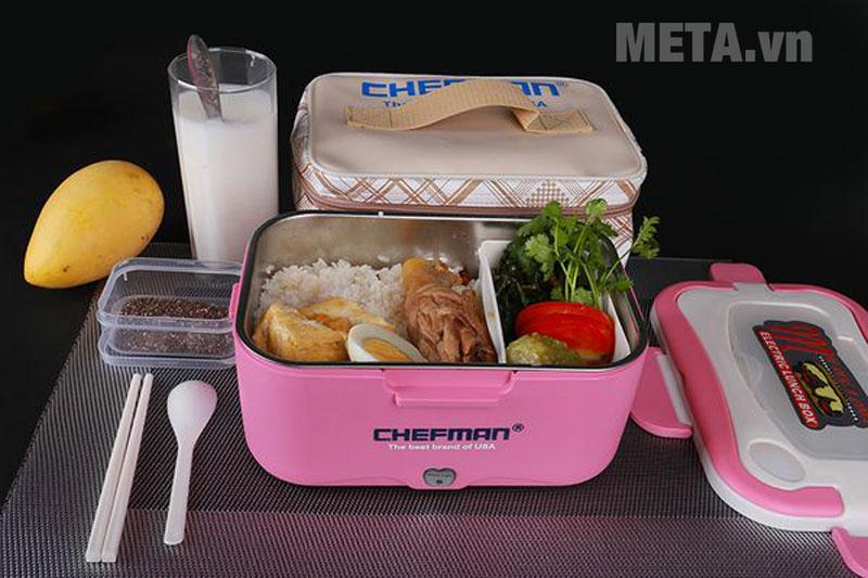 Hộp cơm hâm nóng Chefman lõi inox 304 CM-113I