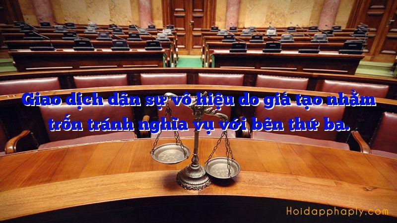 Hợp đồng vô hiệu do giả tạo (Điều 124 Bộ luật dân sự 2015)
