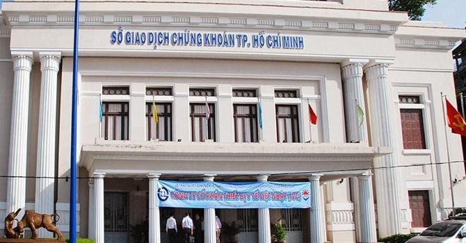 Mặt tiền khang trang của Sở giao dịch chứng khoán Thành phố Hồ Chí Minh