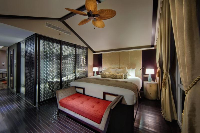 Phòng nghỉ đầy đủ tiện nghi với lối kiến trúc sang trọng
