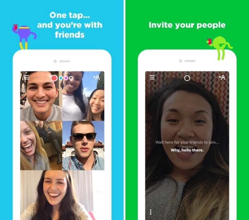 Giao diện ứng dụng Houseparty