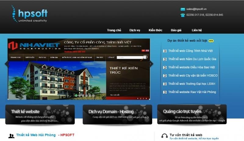 Một số dự án thiết kế web thành công của HPSOFT.